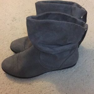 Grey Slip on Boots